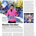 La tennista-maratoneta Caroline Woziacki