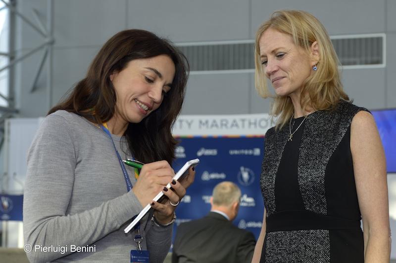 Eccomi con Mary Wittenberg a New York nel 2014 - Foto credits Pierluigi Benini