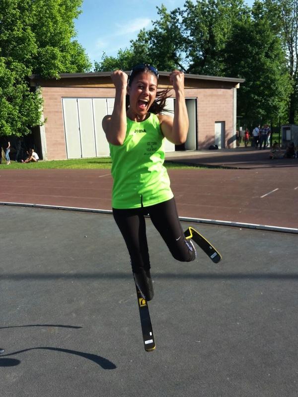 Giusy si scatena dopo il record nei 200 metri