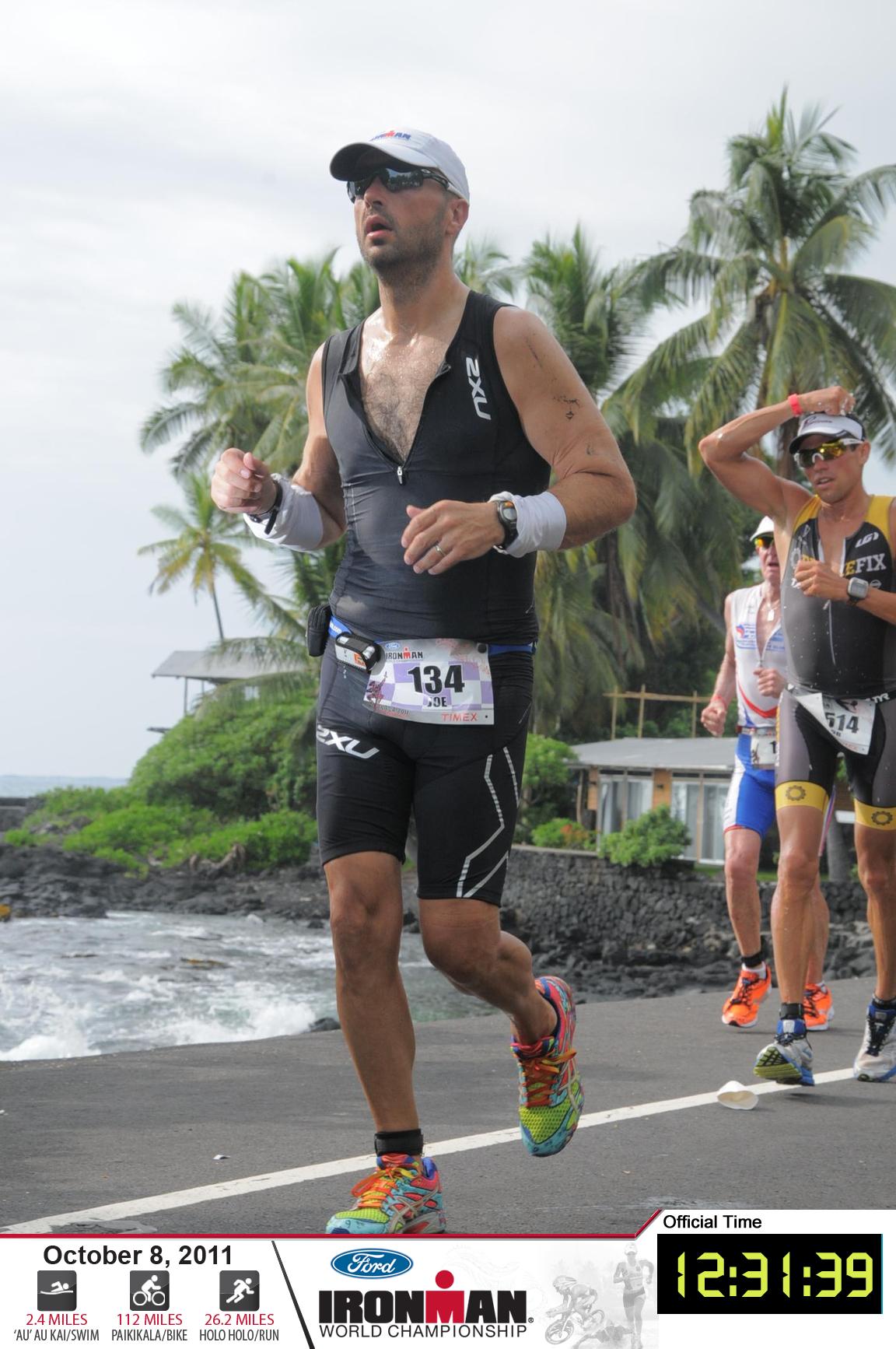 Joe nell'ironman di Kona, 2011 - Running Post
