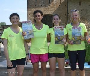 Da sx Laura Fogli, Marianna Zecchi, Anna Missanelli e Lalla Zorzetto con il Training Journal by Runner's World