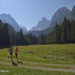 Con Mattia per testare il percorso prima della gara . Foto Benini per Running Post