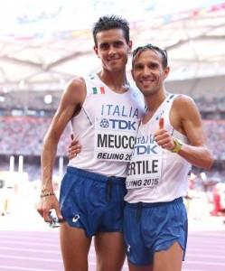 Meucci a sx e Pertile - Foto Colombo/Fidal - Running Post