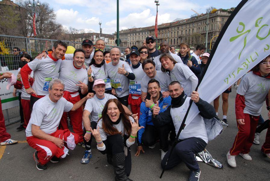 Giusy e il fratello Domenico Versace per disabili no Limits - Running Post