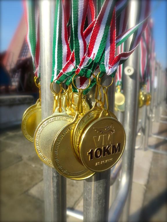 La medaglia della VM 10 km Garmin Forerunner