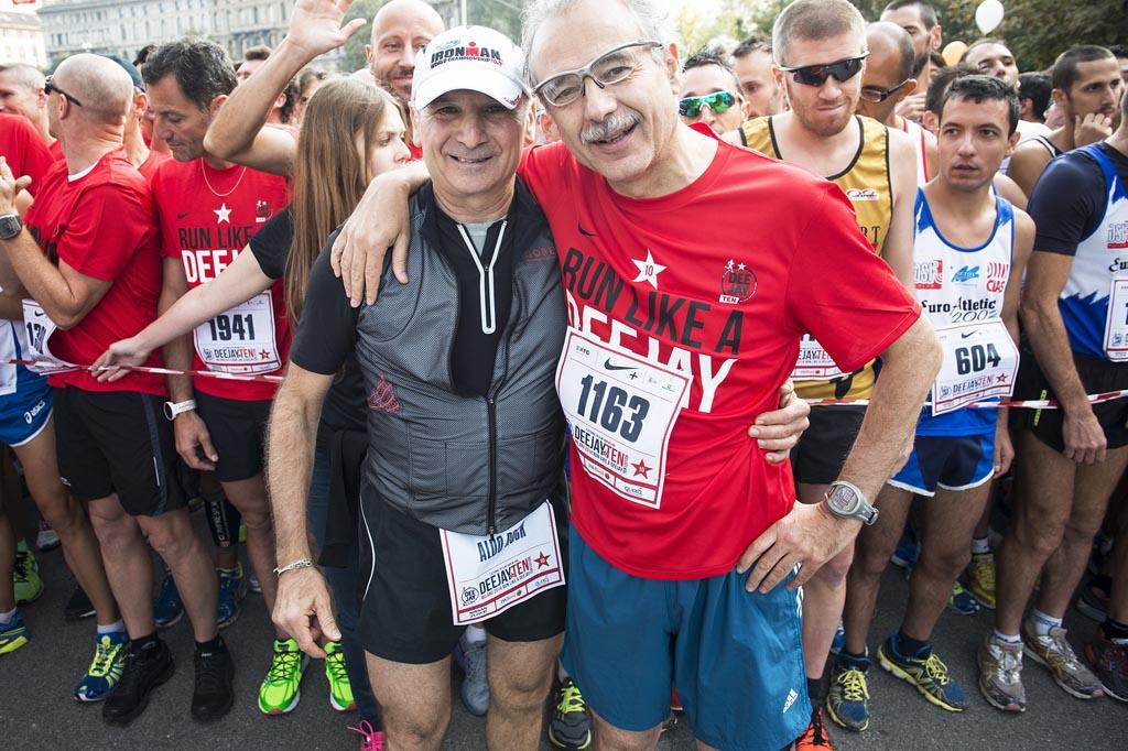 Il grande medico sportivo Sergio Migliorini insieme ad Aldo Rock