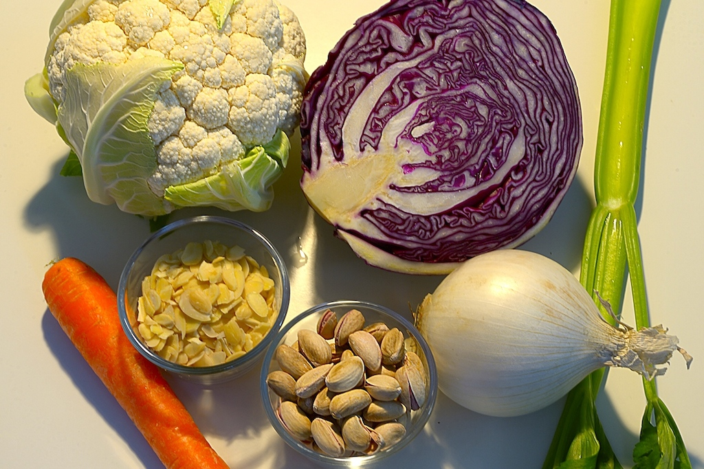 Ecco gli ingredienti per la Vellutata di cavolfiore