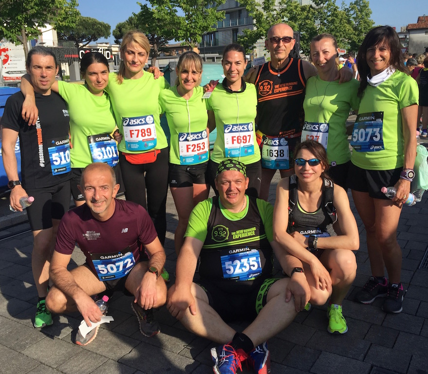 Eccomi con il gruppone di runners ferraresi