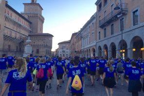 Run 5.30 e Ferrara diventa blu