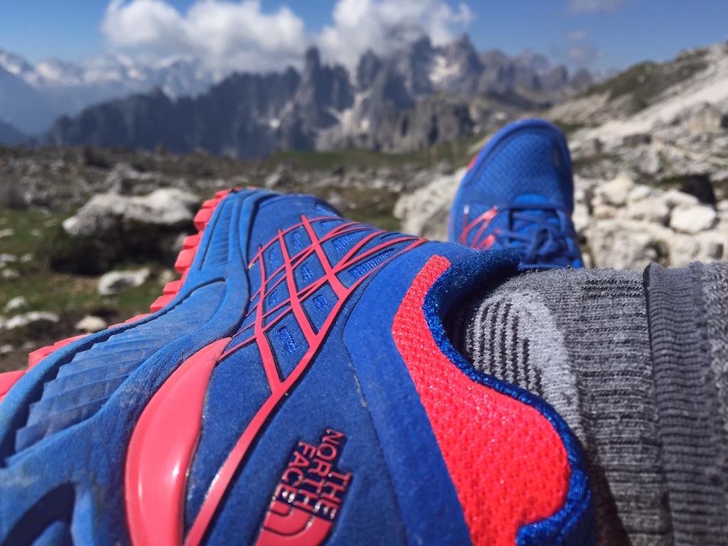 Ecco le scarpe che ho usato: Ultra Endurance by The North Face con suola Megagrip by Vibram