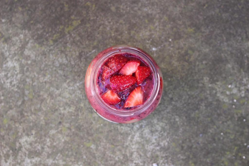Parfait di mirtilli e fragole - Running Post