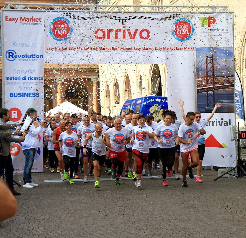 Lo start della Rimini Revolution Run
