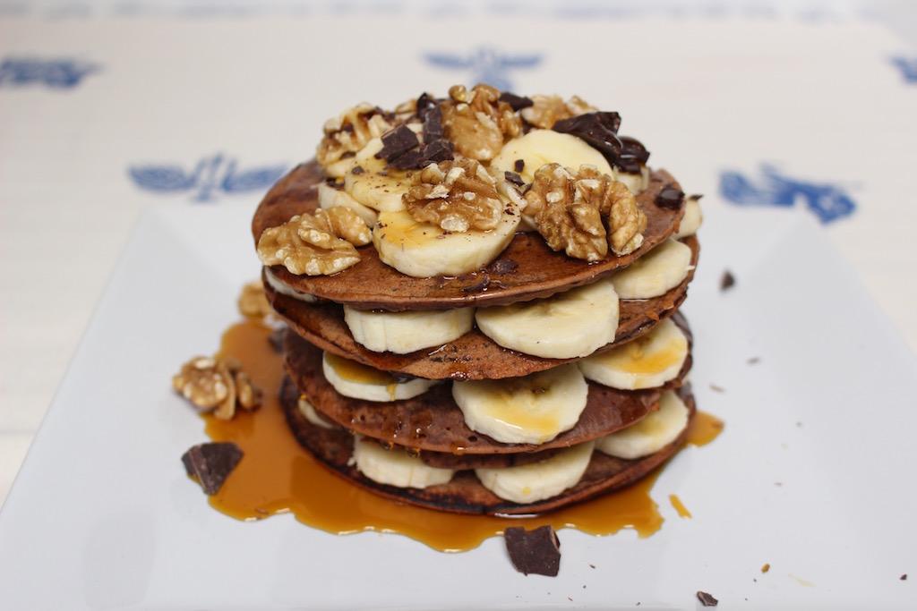 Pancakes castagne e grano saraceno