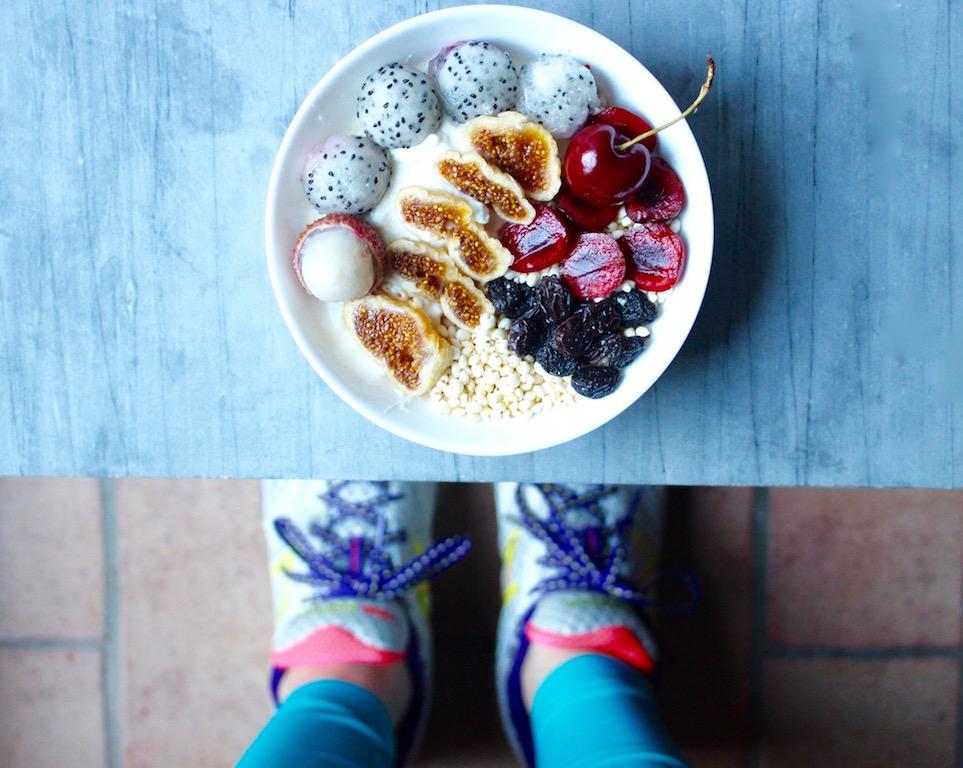 Ciotola di frutta posta allenamento - Running Post