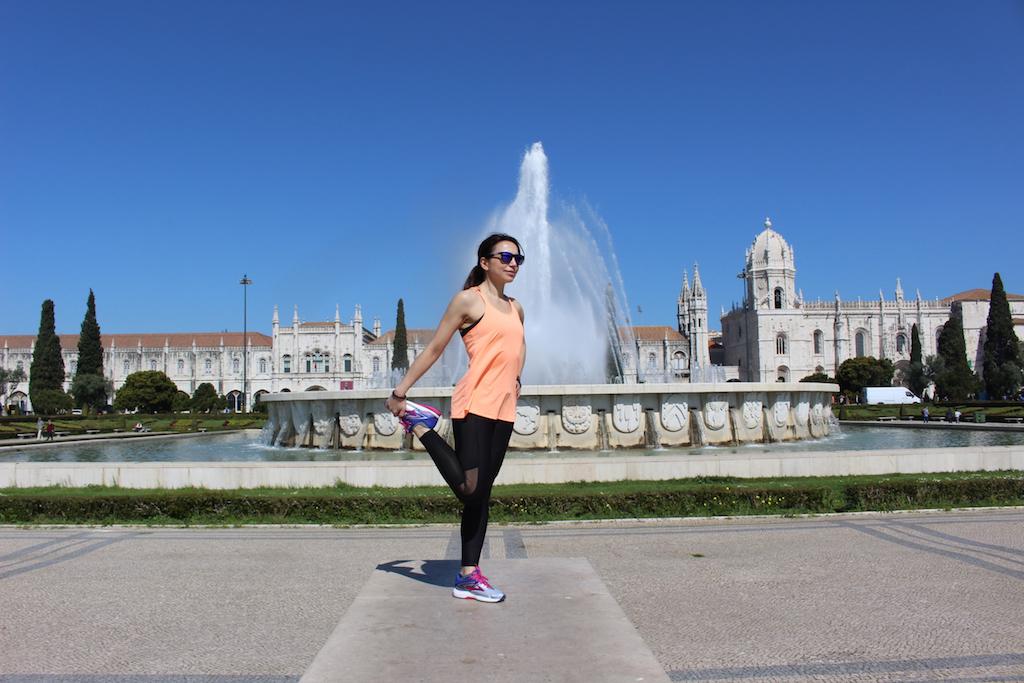 Irene stretching Lisbona