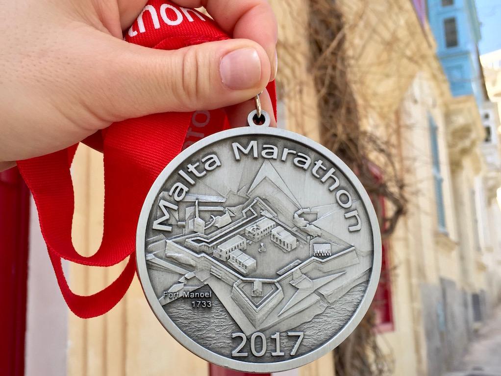 Medaglia Vodafone Malta Marathon 2017