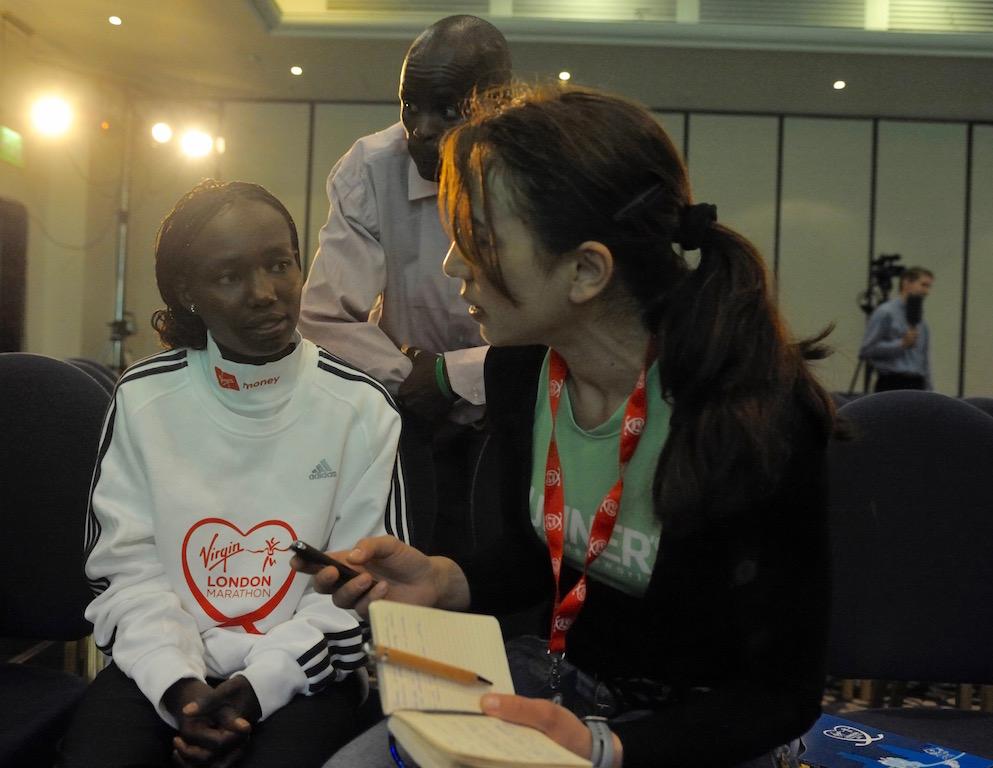 Mary keitany e Irene Righetti - Foto Benini per RunningPost