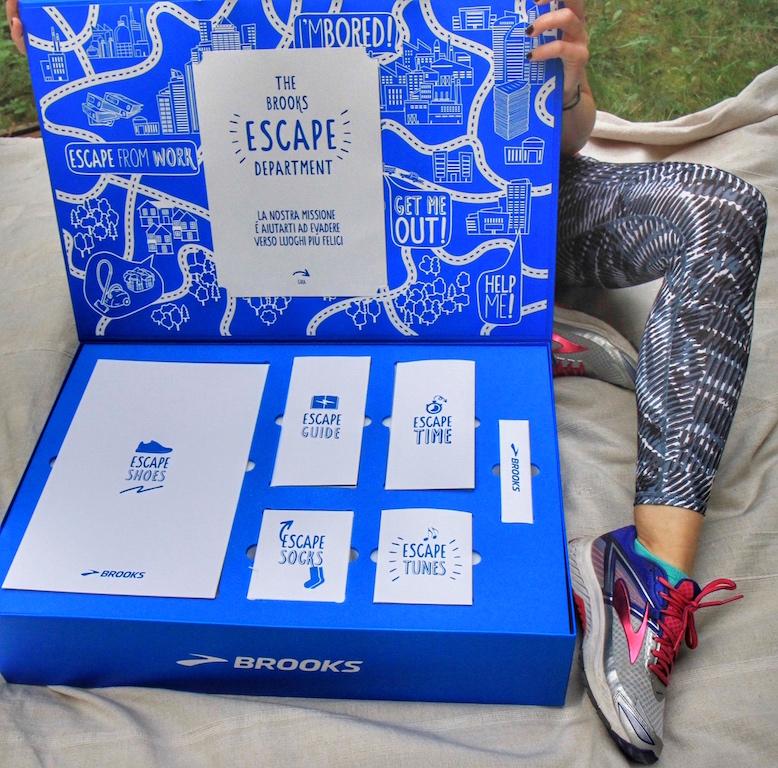 Escape Kit by Brooks per ritrovare le motivazioni per correre.