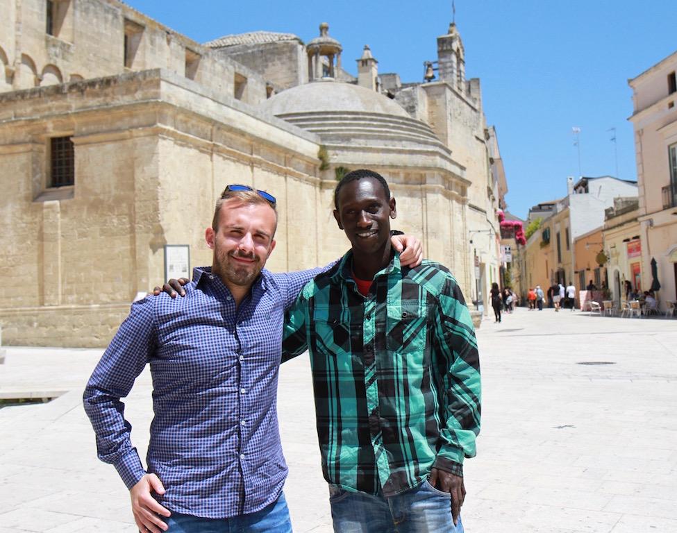 Con Alessandro Donvito, presidente del Team Sport Matera - Foto di T. Gallini
