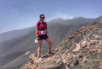 Irene Righetti durante l'Etna Trail - Foto Running Post