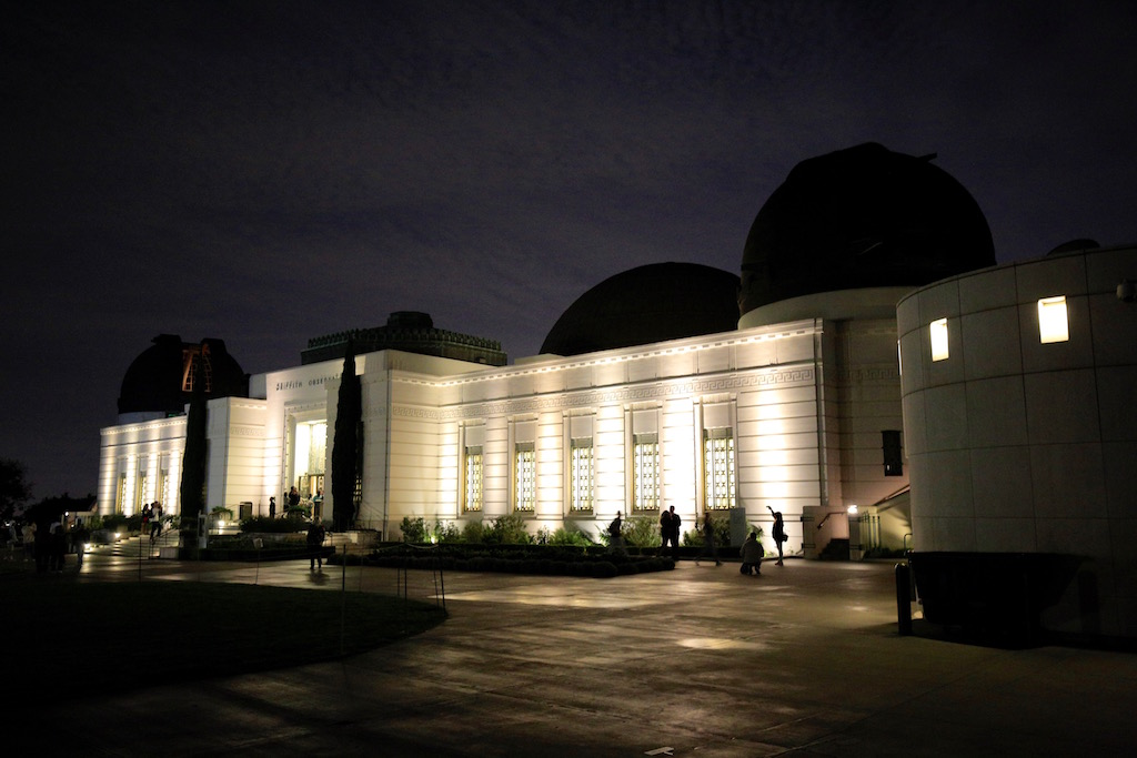 griffith observatory - running post