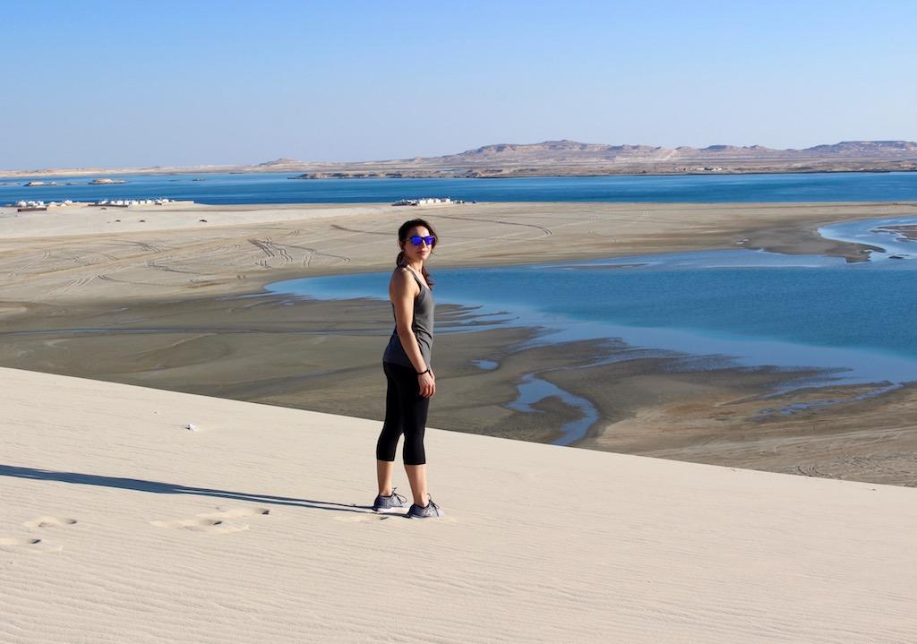 inane sea, qatar - foto running post