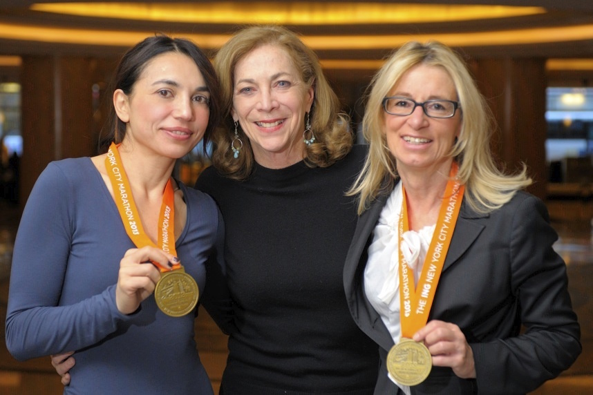 Kathrine Switzer e Irene Righetti nel 2013 - foto P. Beninii per running post