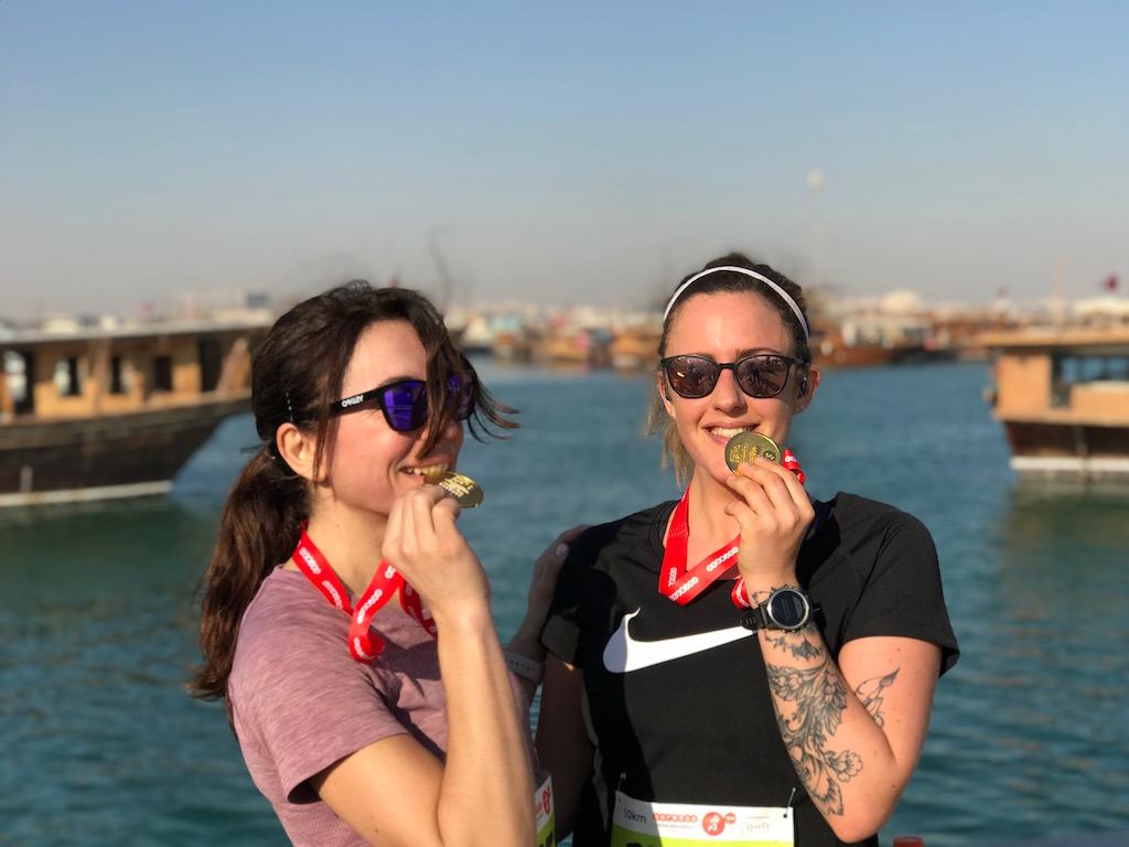 Con Anne di Bonjour Darling - foto Running Post