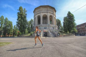 Irene corre all'acquedotto di Ferrara - Foto running Post