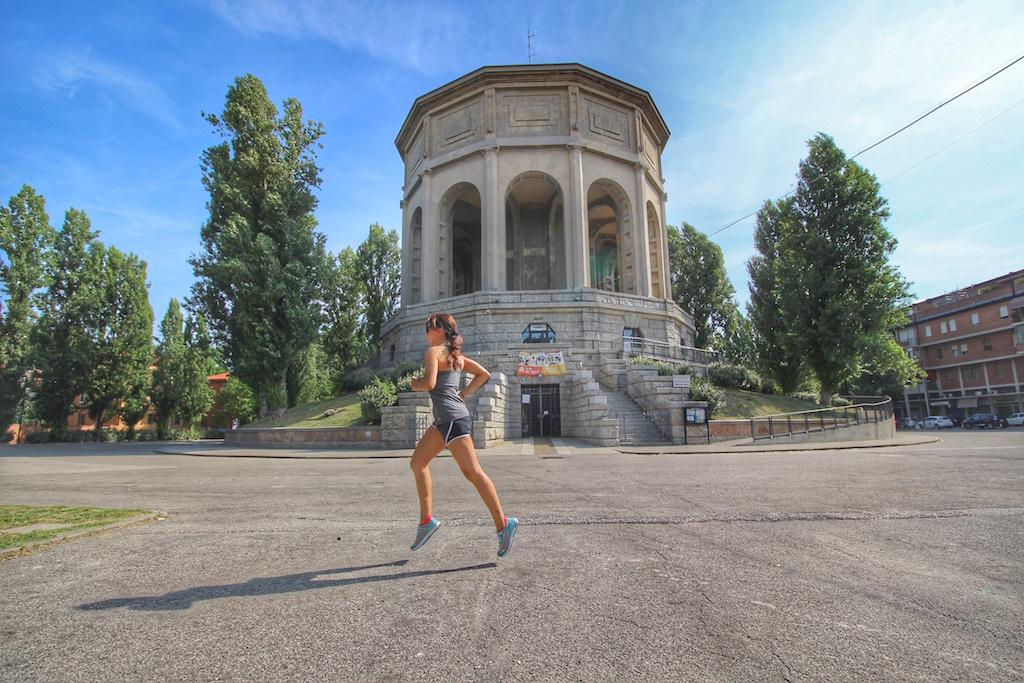 Irene corre all'acquedotto di Ferrara - Foto running Post