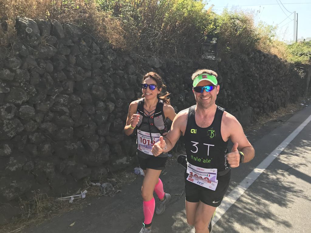 Eccomi impegnata nel primo tratto della Supermaratona insieme a Luca