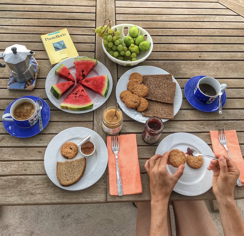 colazione a Pantelleria - Foto Running Post