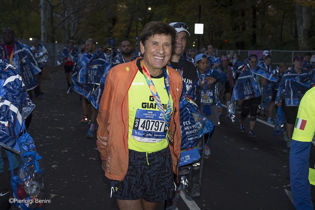 Gianni Morandi alla maratona di New York 2018 - Foto di Pierluigi Benini per Running Post