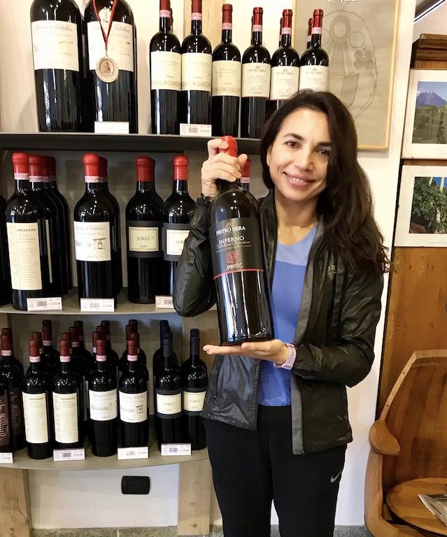 Irene Righetti presso la Casa Vinicola Nera - Foto Running Post