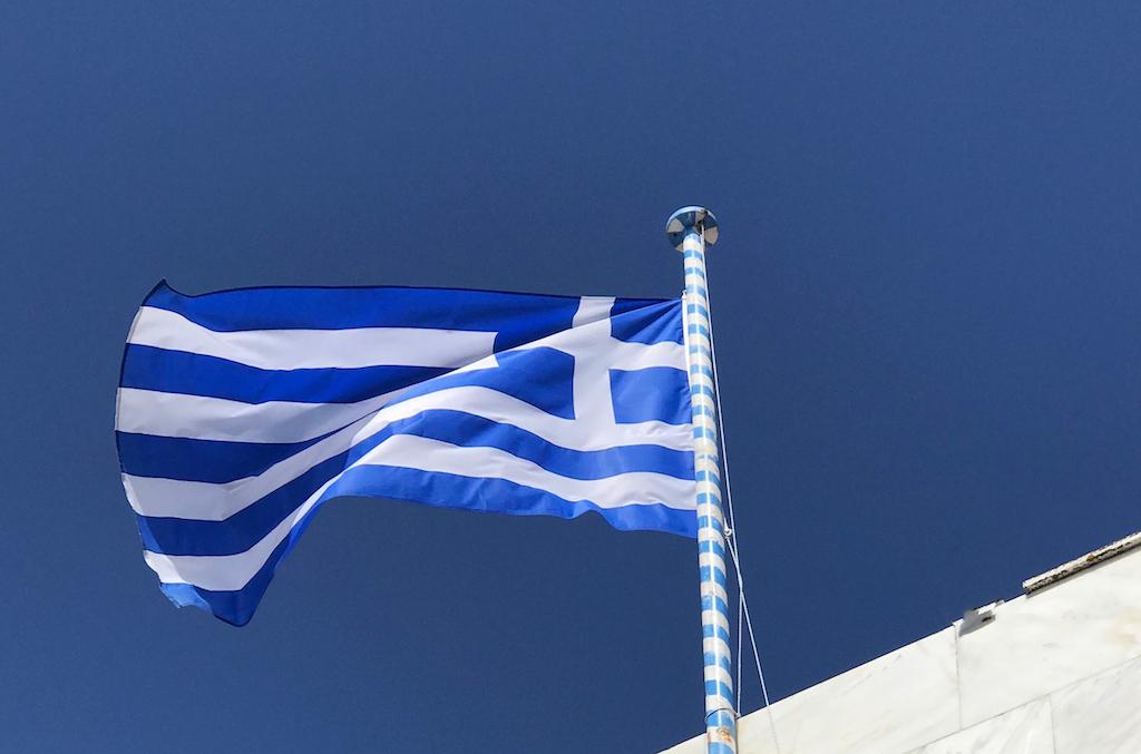 Mykonos, bandiera Grecia - www.runningpost.it by Irene Righetti