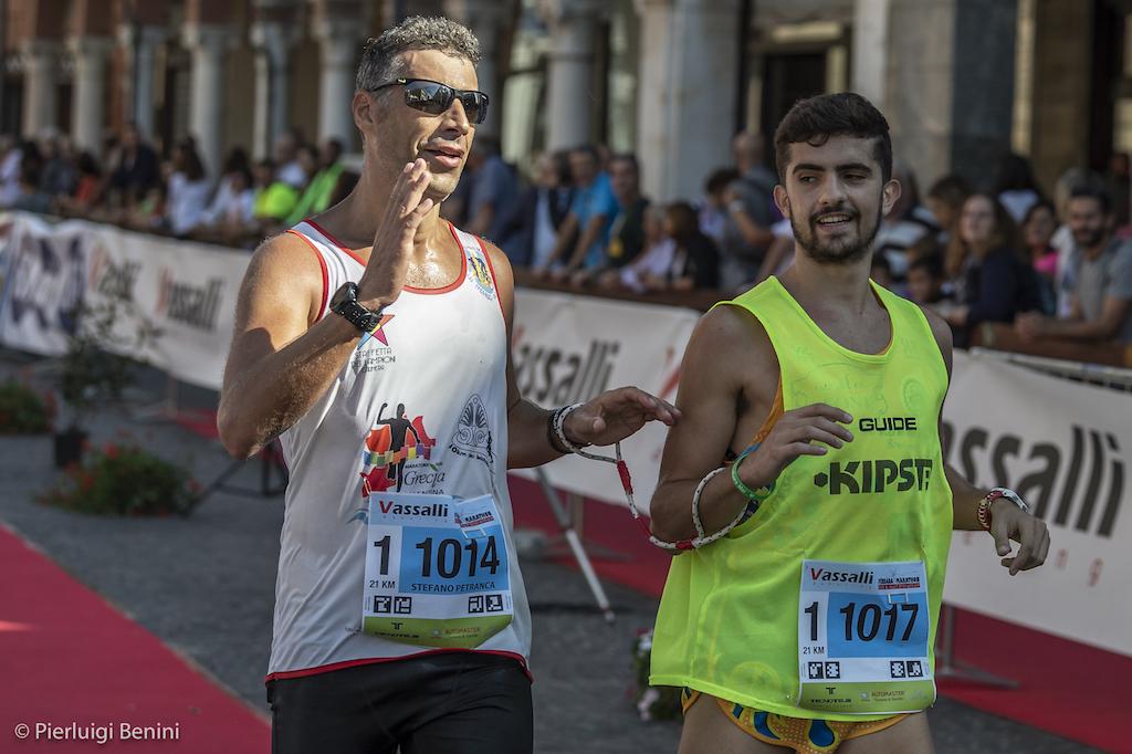 Stefano petranca e Cristian mega alla Ferrara Marathon - Foto Benini per Running Post