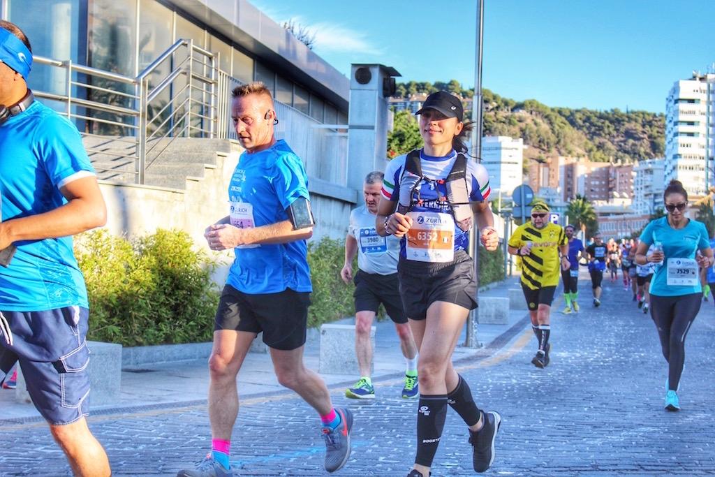 Eccomi impegnata nella Malaga Half Marathon - Foto di Fabio Righetti