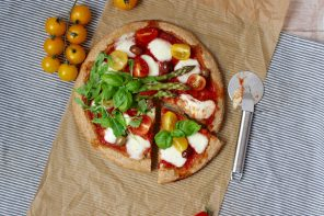 Pizza integrale alle verdure