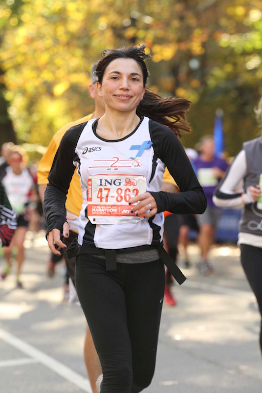 Irene Righetti alla Maratona di New York -www.runningpost.it