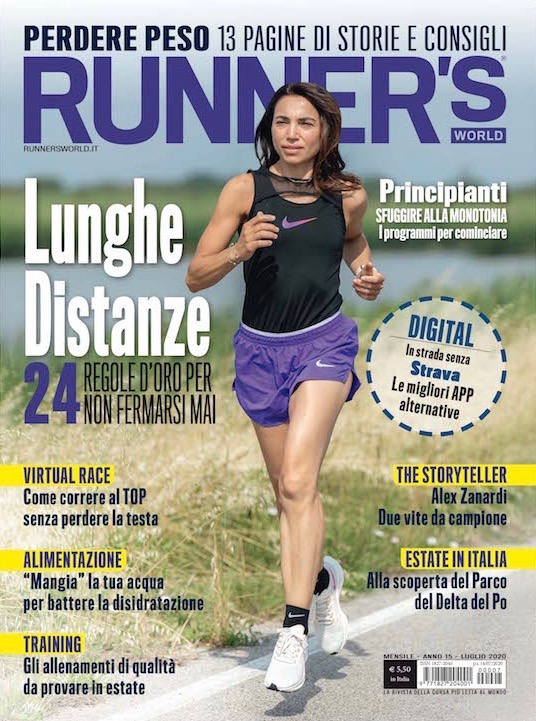 Irene Righetti sulla cover di Runner's World Italy Luglio 2020 - www.runningpost.it