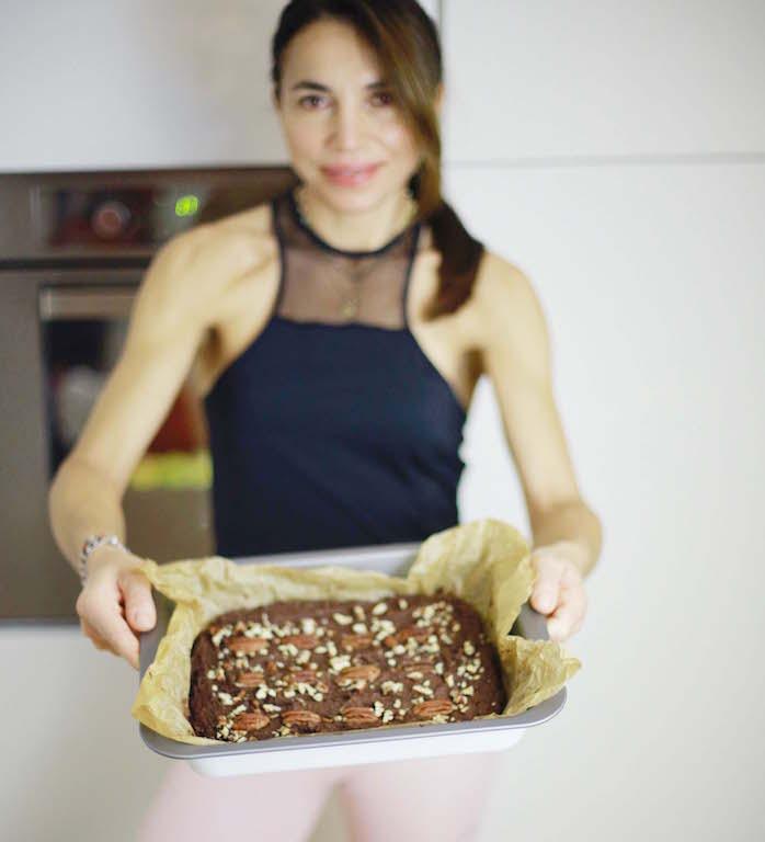 Brownie ai ceci e cioccolato by www.runningpost.it