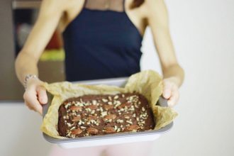Brownie ai ceci e cioccolato by www.runningpost.it