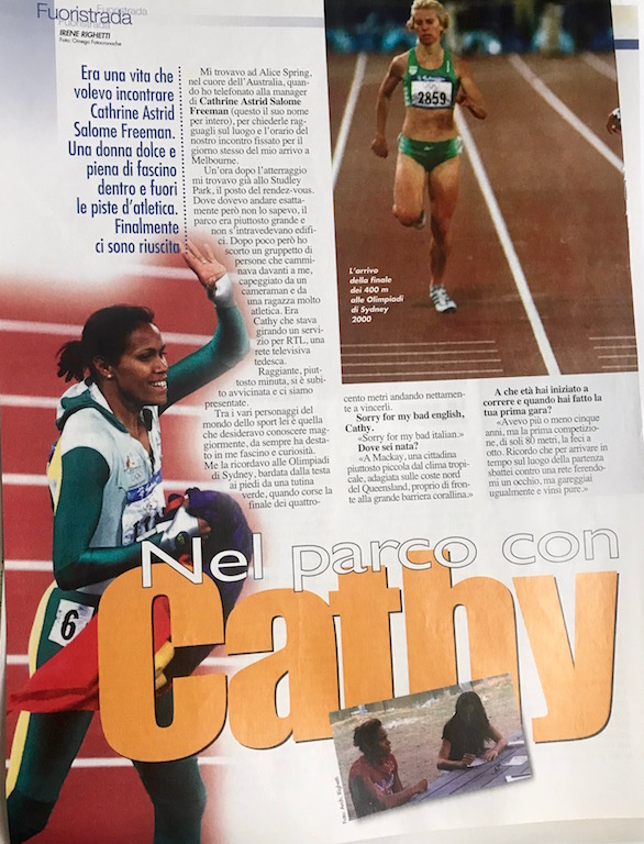 Cathy Freeman e l'intervista su Correre di Irene Righetti