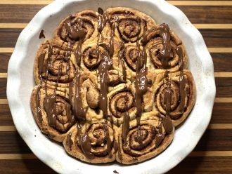 cinnamon rolls - by di corsa in cucina